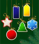 Tags de presente de natal. — Vetorial Stock