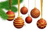 Boże narodzenie dekoracje z balonów — Wektor stockowy