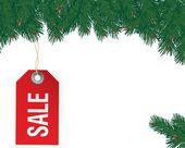 Etiqueta de venta de navidad. — Vector de stock