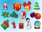 Christmas vector icon set. — Stock Vector