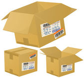 Parcel boxes. — Stock Vector