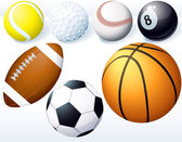 Game balls. — Stock Vector