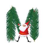Рождество меха abc — Cтоковый вектор