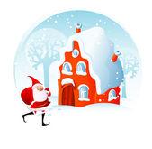 Christmas home. — Stock Vector