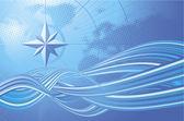 Blue compass. — Stock Vector