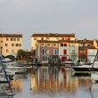 Port Grimaud, water reflection, Cote d'Azur, Cote dAzur, French, Riviera, Southern France, Europe — Stock Photo