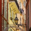 Monaco, picturesque oldtown alleyway, French Riviera, Europe — Stock Photo