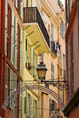 Monaco, picturesque oldtown alleyway, French Riviera, Europe — Foto Stock