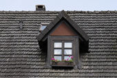 Bad Iburg, Dormer window in the Osnabruecker land, Lower Saxony, Germany — Stock Photo