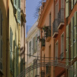 Monaco, picturesque oldtown alleyway — Stock Photo