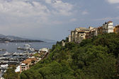 Monaco, mountain slope at the harbor, Southern Europe — Stock Photo