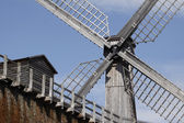 Bad Rothenfelde, salt-works with windmill in the spa garden, Osnabruecker land, Lower Saxony, Germany — Stock Photo