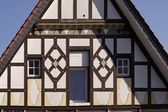 Half-timbered house in Dissen, Osnabruecker land, Lower Saxony, Germany, Europe — Stock Photo