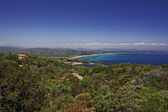Cap Camarat, Ramatuelle near St-Tropez with Pampelonne beach at the Cote d'Azur, Southern France, Europe — Stock Photo