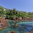 Stock Photo: Massif de l'Esterel, Esterel massif with porphyry rocks, French Riviera, Southern France, Europe