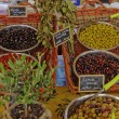 Olives on a market place in Corsica, France — Stock Photo