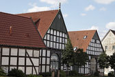 Half-timbered house at the mountain road, Osnabrueck country, Lower Saxony, Germany, Europe — Stock Photo