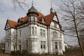 Villa Stahmer, built in 1900 in the half-timbering style serves the city of Georgsmarienhuette as a museum today, Lower Saxony, Germany — Stock Photo