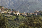 Mountain village of Belgodere in the Nebbio region, Corsica, France — Stock Photo