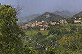 Mountain village Olmeta di Tuda (Olmeta-di-Tuda), Nebbio region, Northern Corsica, France — Stock Photo