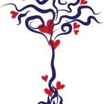 Love tree — Stock Vector #1633178