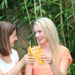 Friends on a tropical vacation Friends on a tropical vacation — Stock Photo