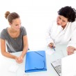 Doctor and patient in consultation Doctor and patient in consultation — Stock Photo