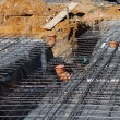 Underlying structure of a new cement floor Underlying structure of a new ce — Stock Photo