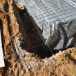 Stock Photo: Excavations for foundations of house