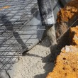 Stock Photo: Pouring cement foundations