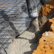 Stockfoto: Pouring cement foundations