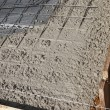 Newly poured cement floor and foundation — Foto Stock
