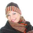 Beautiul stylish woman in winter outfit — Stock Photo