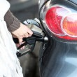 Car being refuelled with petrol or diesel Car being refuelled with petrol or diesel — Stock Photo