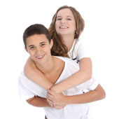 Affectionate young teenage couple Affectionate young teenage couple — Stock Photo