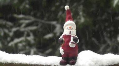 Noel Baba, kar timelapse — Stok video