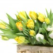 Bouquet of yellow tulips — 图库照片