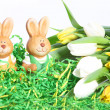 cute little conejitos de Pascua — Foto de Stock
