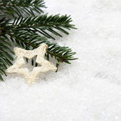 White star Christmas ornament — Stock Photo