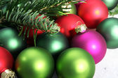 Colorful Christmas baubles — Stock Photo