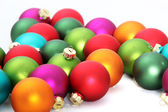 Colorful Christmas traditional globes — Stock Photo