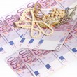 500 euro notes with jewellery — Stock Photo