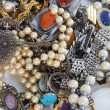 Assorted pile of jewellery — Stock Photo