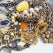 Foto de Stock  : Collection of assorted gemstone jewellery