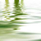 Reflection of greenery in water — Stock Photo