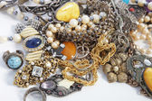 Collection of assorted gemstone jewellery — Stock Photo