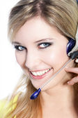 Call center agent — Foto de Stock