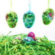 Colourful shiny Easter Eggs — Foto de Stock