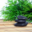 Massage stones in a spa - Stock Photo