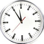 Clock showing five to twelve — Stock Photo